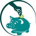 Piggybank illustration art of a with isolated background Royalty Free Stock Photography