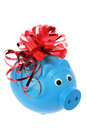 Piggybank with Ribbon Royalty Free Stock Photography