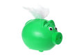 Piggybank with Wings Royalty Free Stock Photos