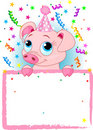 Piglet Birthday Royalty Free Stock Photo