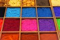 Pigments pigment powder and shellac for artists Royalty Free Stock Photos