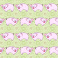 Pigs background illustration seamless pattern with Stock Photo