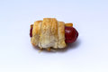 Pigs in blanket sausage rolls covered puff pastry Royalty Free Stock Images