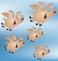 Pigs might fly Royalty Free Stock Images
