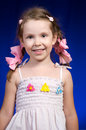 Pigtails and bows Royalty Free Stock Photo