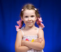 Pigtails and bows Royalty Free Stock Image