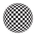 Piłka checker Fotografia Royalty Free