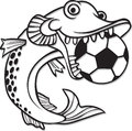 Pike as a symbol of the football team Royalty Free Stock Image
