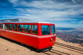 Pikes Peak Cog Train from top of Pike Peak, Colorado Springs, CO Royalty Free Stock Photo