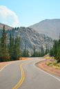 Pikes Peak Highway Stock Photo