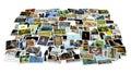 Pila de fotos - perspectiva Foto de archivo libre de regalías