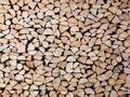 Pila de troncos Foto de archivo libre de regalías