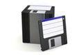 Pila di floppy disk Fotografie Stock Libere da Diritti