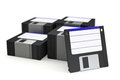Pila di floppy disk Immagine Stock