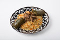 Pilaf with dolma Royalty Free Stock Photo