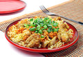 Pilaf with meat Stock Photo
