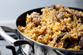 Pilaf (meat of a ram paella) Royalty Free Stock Image