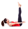 Pilates action Royalty Free Stock Photo