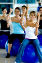 Pilates class in a gym Royalty Free Stock Photo