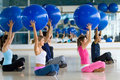 Pilates class at the gym Royalty Free Stock Photo