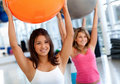 Pilates class in a gym Stock Images