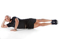 Pilates position Royalty Free Stock Photo