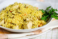 Pilau with chicken Stock Images