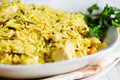Pilau with chicken Stock Photo
