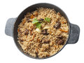 Pilau in the stew pan Royalty Free Stock Image