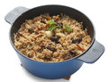 Pilau in the wtew pan Stock Image