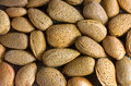 Pile of almond nuts Stock Image
