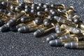 Pile of ammunition caliber Royalty Free Stock Photography