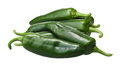 Pile of Anaheim chile peppers, paths Royalty Free Stock Photo