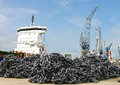 A pile of anchor chain Stock Photography