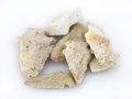 Pile of arrowheads macro image a flint artifact Stock Photo
