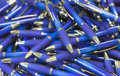 Pile of ballpoint pens Royalty Free Stock Photo