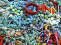 PIle of beaded bracelets Royalty Free Stock Photo