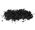 Pile black coal isolated Royalty Free Stock Photo
