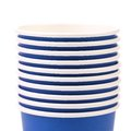 Pile of blue paper coffee cup. Stock Image