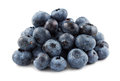 Pile of blueberries against a white background Royalty Free Stock Photo