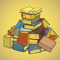 Pile of book retro a in style Royalty Free Stock Photography
