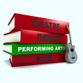 Pile of books - performing arts Stock Photos