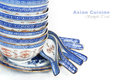 Pile of Bowls and spoons Royalty Free Stock Photo