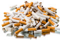Pile broken cigarettes stop smoking concept Stock Photo