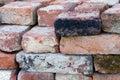 Pile of building bricks Royalty Free Stock Photo