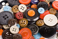 Pile of buttons close up Stock Photography