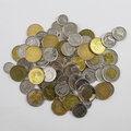 A pile of Canadian change Royalty Free Stock Photo