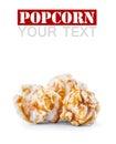 A Pile Of Caramel Popcorn On A...