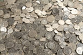 Pile of cash coins Royalty Free Stock Photo