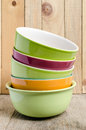 Pile of ceramic bowls Royalty Free Stock Photo